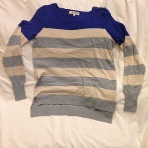NWT Pink Rose - Boutique Striped Sweater - L